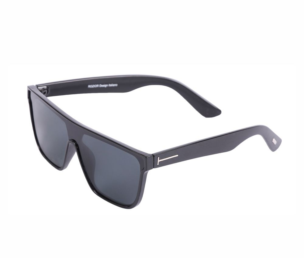 Rozior Black Men Women Sunglass with UV Protection Black Lens with Black Frame  (Lens: Black || Frame: Black, Model: RSU13545C1)