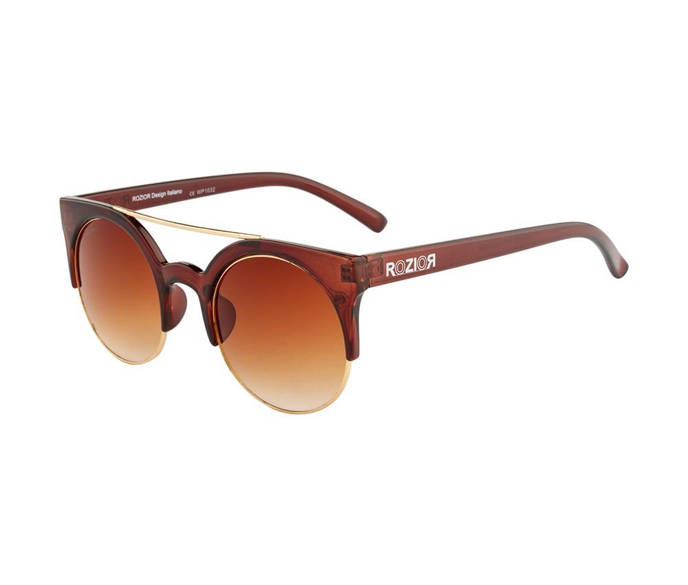 Rozior Brown  Men Women Sunglass with UV Protection Brown Lens with Brown Frame  (Lens: Brown  || Frame: Brown  , Model: RWU1032C2)
