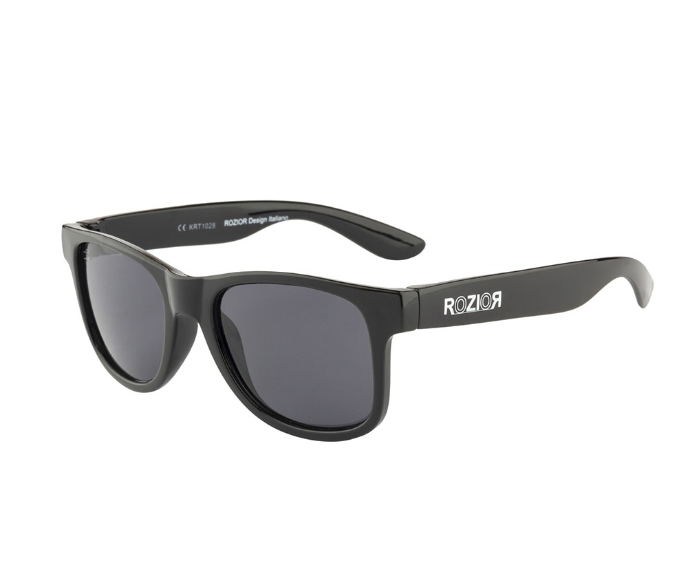 Rozior Black Kids Sunglass with UV Protection Smoke Lens with Black Frame (Lens: Smoke|| Frame: Black, Model: RWUK1028C1)