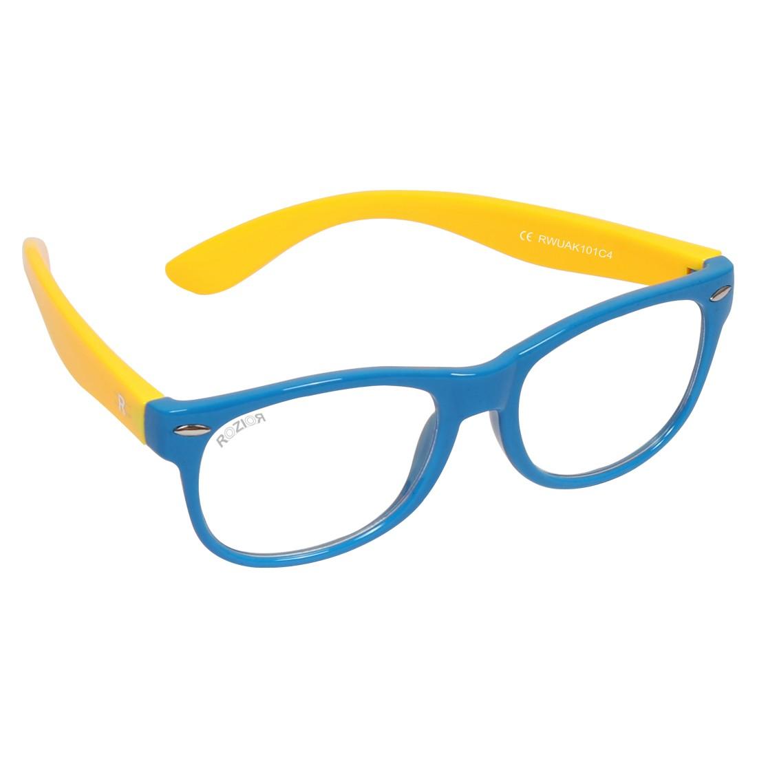 ROZIOR Italy Anti-Glare Blue Light Eye Protection Computer/Mobile Screen Eye Glasses for kids | Zero Power Computer Light Protection | Best For Online Classes | Model: RSHUK12667C1