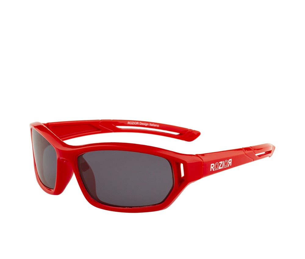 Rozior Red Kids Polarised Sunglass with UV Protection Black Lens with Black Frame  (Lens: Black    Frame: Black, Model: RWPPK104C1)