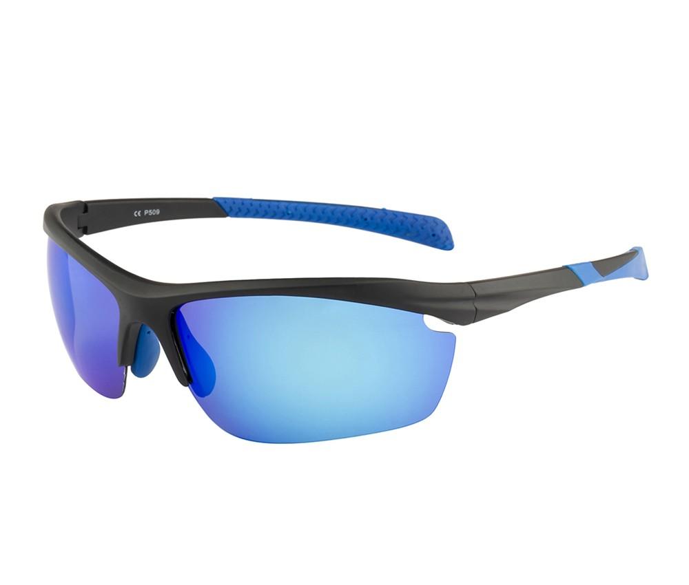 Rozior Black Men Women Polarised Sunglass with UV Protection Ice blue Lens with Black Frame (Lens: Ice blue|| Frame: Black, Model: RWPP509M4)