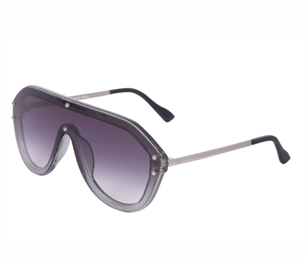 Rozior Silver Men Women Sunglass with UV Protection Gratient Grey Dual Shade Lens with Silver Frame  (Lens: Gratient Grey Dual Shade || Frame: Silver, Model: RSU15932C1)