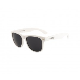 Rozior White Men Women Sunglass with UV Protection Black Lens with White Frame Model: RWU1028C6