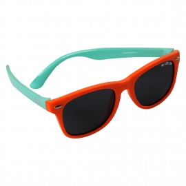 ROZIOR Kids Sunglass with UV Protection Smoke Lens with Orange Frame, MODEL: RSHPK12667C13