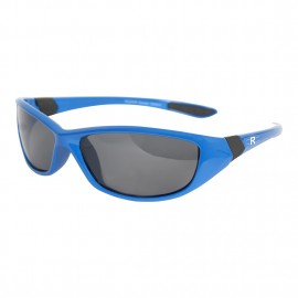 Rozior Men Women Polarized Sunglass with UV Protection Smoke Lens with Blue Frame, MODEL: RWPP510C2