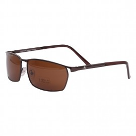 Rozior Coffee Men Women Polarised Sunglass with UV Protection Brown Lens with Coffee Frame  (Lens: Brown || Frame: Coffee, Model: RWP2848C2)