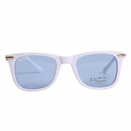 Rozior White Kids Sunglass with UV Protection Blue Lens with White Frame, MODEL: RWUK169C4
