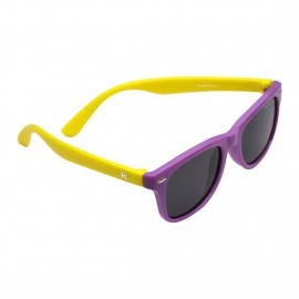 ROZIOR Kids Sunglass with UV Protection Smoke Lens with Purple Frame, MODEL: RSHPK12667C10