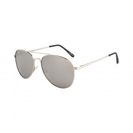 Rozior Silver  Men Women Sunglass with UV Protection Silver Mirror Lens with Silver Frame  (Lens: Silver Mirror || Frame: Silver, Model: RWU2018M2)