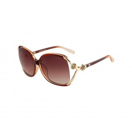 Rozior Brown Women Sunglass with UV Protection Brown Lens with Brown Frame (Lens: Brown || Frame: Brown, Model: RSU9825C1)