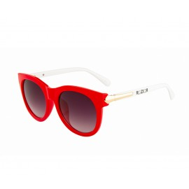 Rozior Red Women Sunglass with UV Protection Gradient Smoke Lens with Red Frame  (Lens: Gradient Smoke || Frame: Red, Model: RWU2130C23)