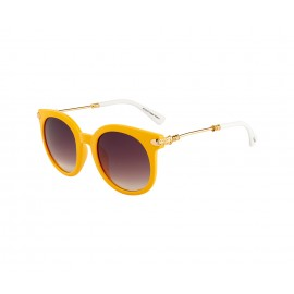 Rozior Yellow Women Sunglass with UV Protection (Lens: Gradient Smoke || Frame: Yellow, Model: RWU2129C62)