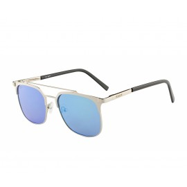 Rozior Silver Men Women Sunglass with UV Protection Blue Lens with Silver Frame  (Lens: Blue || Frame: Silver, Model: RWU3471M4)