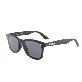 Rozior Black Men Women Sunglass with UV Protection Black Lens with Black Frame, Model: RWU7001C1