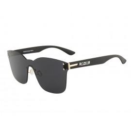 Rozior Black Men Women Sunglass with UV Protection Black Lens with Black Frame (Lens: Black || Frame: Black, Model: RWUF1001C1)