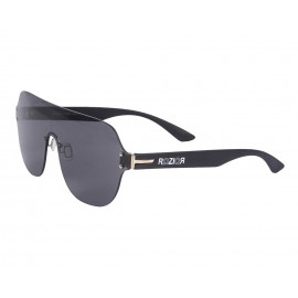 Rozior Black Men Women Sunglass with UV Protection Smoke Lens with Black Frame  (Lens: Smoke || Frame: Black, Model: RWUF1006C1)
