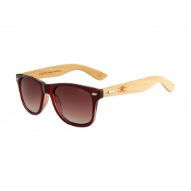 Rozior Tea Men Women Sunglass with UV Protection (Lens: Double Tea|| Frame: Tea, Model: RSU150107C2)