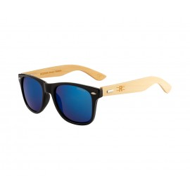 Rozior Black Men Women Sunglass with UV Protection (Lens: Blue Mirror|| Frame: Black, Model: RSU150107M3)