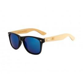 Rozior Black Men Women Sunglass with UV Protection (Lens: Blue Mirror|| Frame: Black, Model: RSU150107M3)