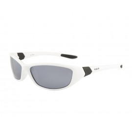 Rozior White Men Women Polarised Sunglass with UV Protection Silver Mirror Lens with White Frame (Lens: Silver Mirror|| Frame: White, Model: RWPP510M2)