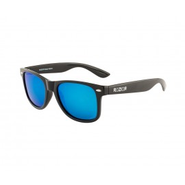 Rozior Black Men Women Polarised Sunglass with UV Protection Blue Mirror Lens with Black Frame (Lens: Blue Mirror    Frame: Black, Model: RWPPJH1028M4)