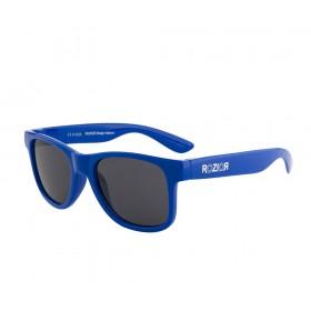 Rozior Blue Kids Sunglass with UV Protection Smoke Lens with Blue Frame  (Lens: Smoke|| Frame: Blue, Model: RWUK1028C4)