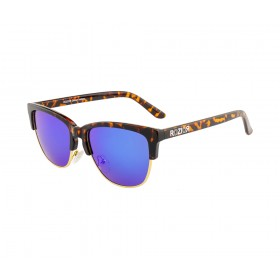Rozior Tortoise Men Women Polarised Sunglass with UV Protection Blue Mirror Lens with Tortoise Frame  (Lens: Blue Mirror || Frame: Tortoise, Model: RWP5003M4)