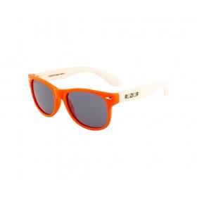Rozior Orange Kids Polarised Sunglass with UV Protection Black Lens with Orange Frame (Lens: Black || Frame: Orange, Model: RWPPK101C10)
