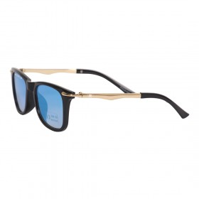 Rozior Black Kids Sunglass with UV Protection Blue Mirror Lens with Black Frame, MODEL: RWUK169M5
