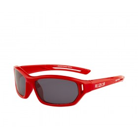 Rozior Red Kids Polarised Sunglass with UV Protection Black Lens with Red Frame  (Lens: Black    Frame: Red, Model: RWPK121C5)