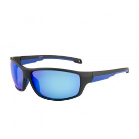 Rozior Black Men Women Polarised Sunglass with UV Protection Blue Mirror Lens with Black Frame  (Lens: Blue Mirror|| Frame: Black, Model: RWPP507M4)