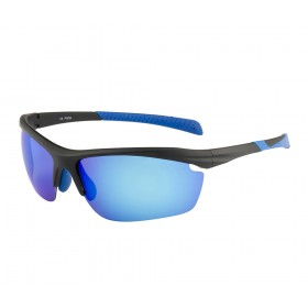 Rozior Black Men Women Polarised Sunglass with UV Protection Ice blue Lens with Black Frame (Lens: Ice blue|| Frame: Black, Model: RWPP509M4)