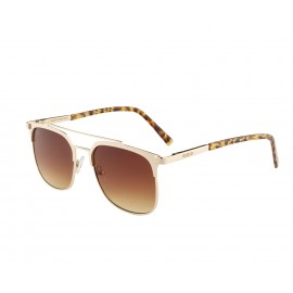 Rozior Golden Men Women Sunglass with UV Protection Brown Lens with Golden Frame (Lens: Brown || Frame: Golden, Model: RWU3471C7)