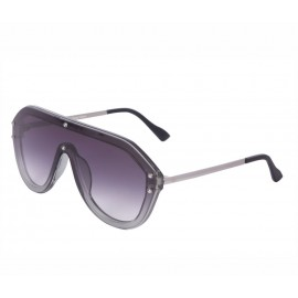 Rozior Silver Men Women Sunglass with UV Protection Gratient Grey Dual Shade Lens with Silver Frame  (Lens: Gratient Grey Dual Shade    Frame: Silver, Model: RSU15932C1)