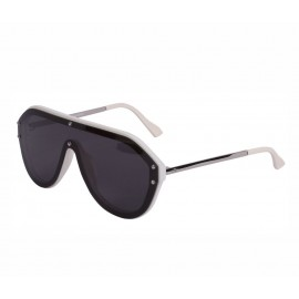 Rozior Silver Men Women Sunglass with UV Protection Black Lens with Silver Frame (Lens: Black || Frame: Silver, Model: RSU15932C8)