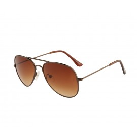 Rozior Brown Kids Sunglass with UV Protection Brown Lens with Brown Frame  (Lens: Brown || Frame: Brown, Model: RWUK0909C2)