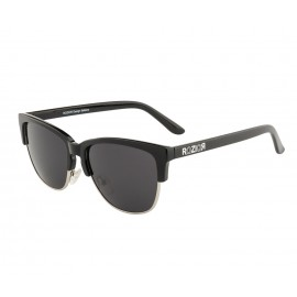 Rozior Black  Men Women Sunglass with UV Protection Smoke Lens with Black Frame (Lens: Smoke || Frame: Black , Model: RWUKY034C1)