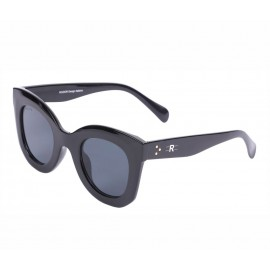 Rozior Black Women Sunglass with UV Protection Black Lens with Black Frame (Lens: Black || Frame: Black, Model: RSU13132C1)